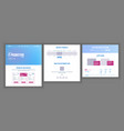 website template page business project vector image vector image