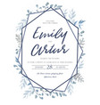 wedding invite invitation save date card vector image vector image