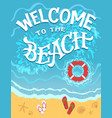 welcome to beach hand drawn vector image vector image