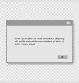window operating system warning vector image vector image