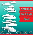 world ocean day card vector image vector image