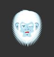 yeti winks emoji abominable snowman cheerful vector image vector image