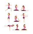 young woman making yoga exercises and meditation vector image vector image