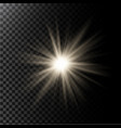 a glowing light effect with vector image