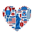 Heart New York USA vector image