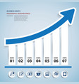 Paper chart and graph Infographics vector image