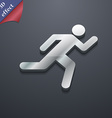 running man icon symbol 3D style Trendy modern vector image
