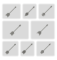 monochrome icons with arrows vector image
