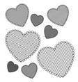 silhouette heart background icon vector image