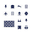 13 solid icons vector image vector image