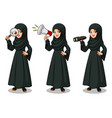 arab businesswoman looking for poses vector image vector image