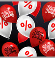 black friday sale background - many balloons with vector image