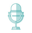 blue shading silhouette of studio microphone vector image vector image
