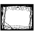 Border of Black Chains 3 vector image vector image