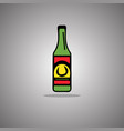 bottle beer isolated vector image