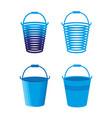 buckets vector image vector image