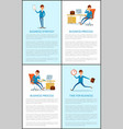 business strategy and businessman working process vector image vector image