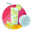 Caipirinha cocktail drink recipe for party vector image vector image