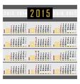 Calendar 2015 1a vector image