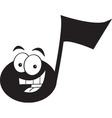 Cartoon smiling musical note vector image