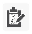 checklist icon black vector image