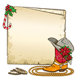 Christmas paper background with horseshoes and vector image