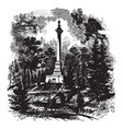clays monument at lexington ky vintage vector image vector image