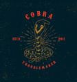 cobra snake on grunge background design element vector image vector image