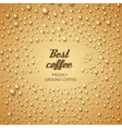 Coffee cup make from water drops vector image vector image