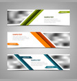 collection banners with abstract stripes and vector image vector image