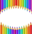 colored pencils isolated on white background vector image