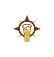 compass beer logo icon design vector image