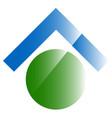 conceptual real estate icon logo home button vector image