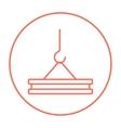 Crane hook line icon vector image