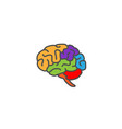 creative colorful brain logo vector image vector image