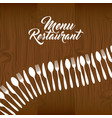 cutlery set restaurant menu vector image vector image