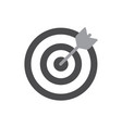 darts target aim icon flat pictogram for vector image