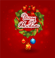 decorated christmas wreath with balls Christmas vector image