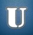 Denim jeans letter U vector image vector image