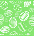 easter egg seamless pattern green white color vector image