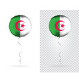 foil round shaped balloons in as algeria national vector image