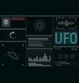 futuristic ufo screen vector image