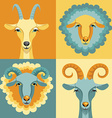 goat and sheep vector image vector image