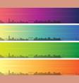 gothenburg multiple color gradient skyline banner vector image vector image