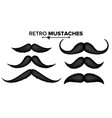hair mustaches set barber shop funny vector image