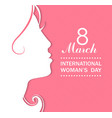 Happy Womens Day celebrations concept vector image