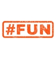 Hashtag Fun Rubber Stamp vector image vector image