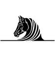 head black horse logo vector image vector image