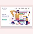 home schooling website landing page vector image vector image