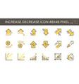 increase decrease and arrow icon set design vector image